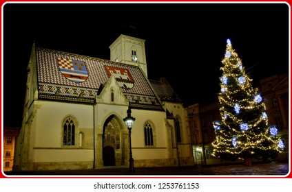 Advent night in the Zagreb