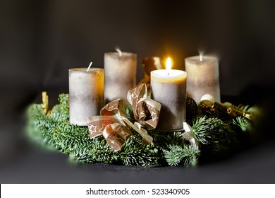 Advent wreath, first Advent