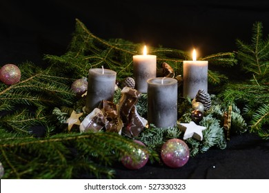 Advent wreath the second Advent