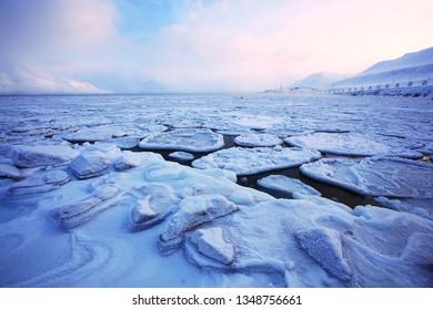 Adventfjord on Svalbard