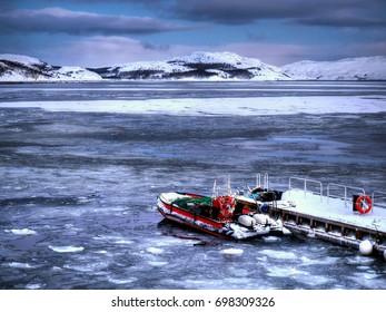 Adventure boat on the barren's sea, Kirkenes, Norway