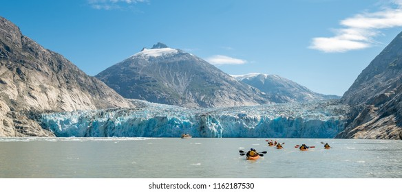 Adventure Kayak Tour in Tracy Arm Alaska at Dawes Glacier