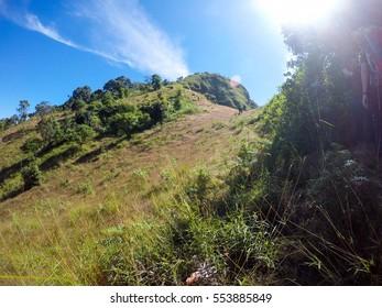 The adventure in Mountain at Doi Thu Le, Tak Province, Thailand.