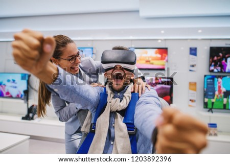 b9cfecc4c14d Adventure New VR Goggles Virtual Reality Stock Photo (Edit Now ...