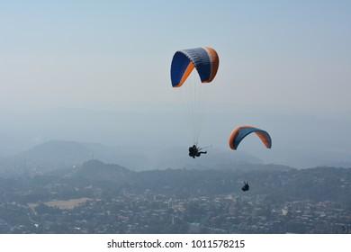 Adventure sport activity in Dharamshala city of himachal Pradesh INDIA
