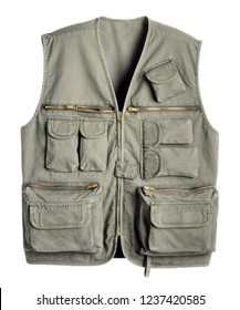 adventure vest for man isolated