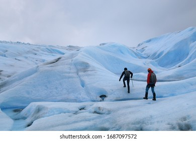 Adventurous Hike on the beautiful Grey Glacier in the Torres del Paine Nationalpark in Patagonia, Chile
