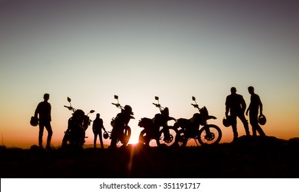 adventurous motorcyclists