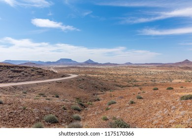 Adventurous road trip through a spectacular landscape, Damaraland, Namibia.