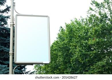 Advertise billboard on street