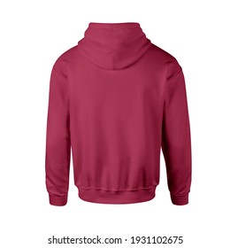 Advertise your logo or design ideas with this Back View Luxurious Men Hoodie Mockup In Red Bud Color Without Drawcords. Don't waste your time.