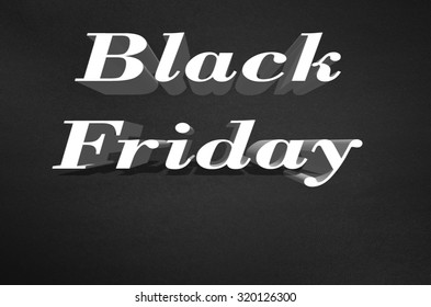 Advertisement for Black Friday on black background