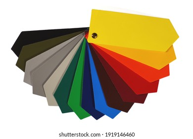 Advertisement. Color chart of one of the most popular advertising media: PVC coated banner.