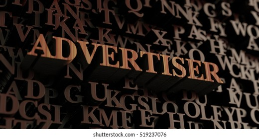 Advertiser - Wooden 3D rendered letters/message.  Can be used for an online banner ad or a print postcard.
