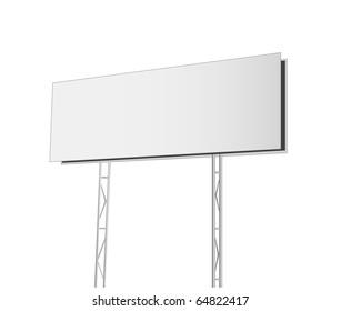 Advertising billboard isolated on white background