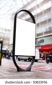 advertising blank poster site or billboard or adshel in london