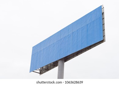 advertising board with white background