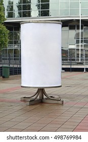 Advertising column billboard with empty space