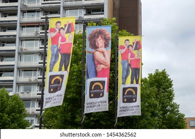 Advertising Flags Diemen Shopping Mall At Diemen The Netherlands 2019