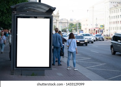 advertising mockup for ad placement advertising in the bus shelter