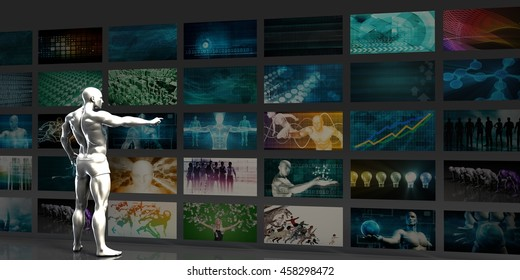 Advertising Network Background as an Abstract Concept 3D Illustration Render