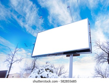 advertising outdoor billboard and banner at city street mockup useful for design