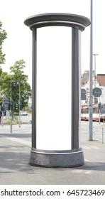 advertising pillar, free copy space