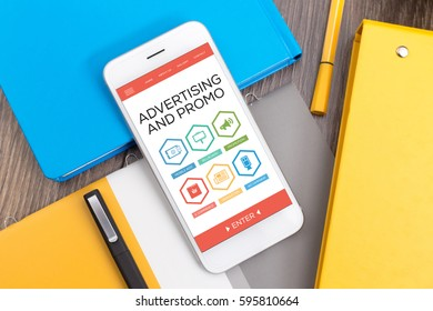 Advertising and Promo E-commerce Newsletter Promotion Ad Campaign word with Icons