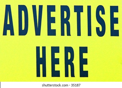 Advertising sign