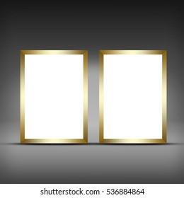 Advertising space. Frame for picture or copy space. 3D illustration