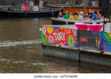 Advertisment On The Tribune At The Gaypride Amsterdam The Netherlands 2019
