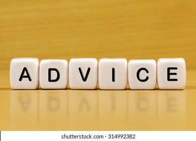 ADVICE word on blocks