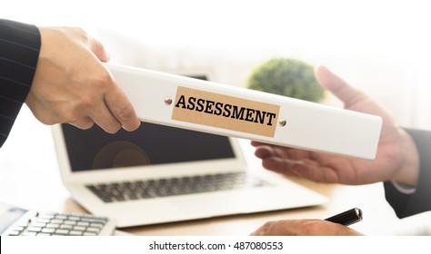 Adviser sends assessment result document folder to manager. Concept of business risk assessment.