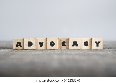 ADVOCACY word made with building blocks