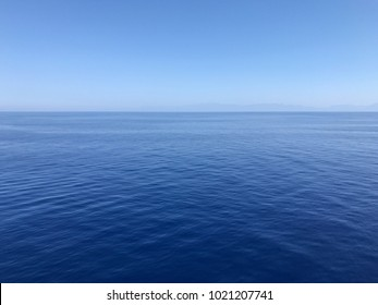 Aegean blue sea and waves
