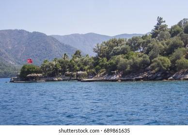 Aegean Sea near the city of Marmaris, Turkey