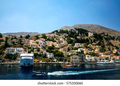 Aegean sea, ships,Symi island, Greece