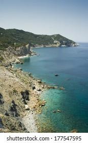 Aegean sea shore, island of Skiathos