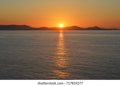The Aegean sea at sunset
