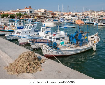 AEGINA, GREECE - MAY 30: Aegina harbor on May 30, 2009 in Aegina. Aegina is a Greek island in the Aegean sea belonging to the Saronic islands.