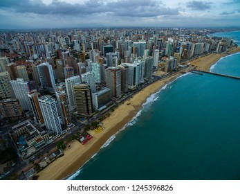 Aeria view of the city of Fortaleza, Ceará, Brazil South America.