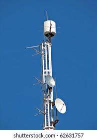 Aerial antenna. Radio antenna. Television antenna. Radio waves receiver.