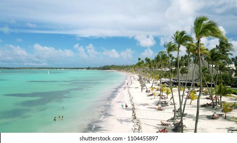 Aerial of Bavaro Beach, Punta Cana, Dominican Republic