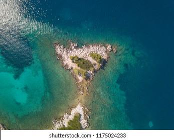 Aerial Beautiful Landscape and Sea in Croatia