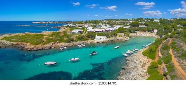 Aerial - Binibeca Town, Menorca, Spain.