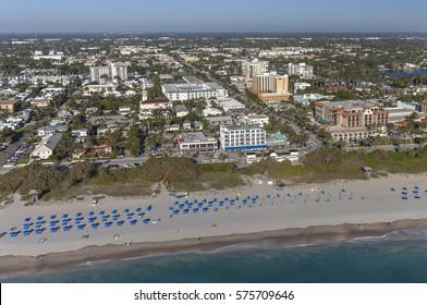Aerial, Bird Eye of Delray Beach, Florida USA