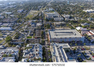 Aerial, Bird Eye View from Delray Beach, USA