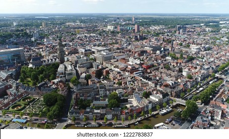 Aerial bird view photo of Groningen city center the main municipality as well as the capital the eponymous province in the Netherlands it is the largest town in the north of Holland