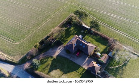 Aerial bird view photo single-family detached home stand-alone house also called a single-detached dwelling detached residence or detached house is a free-standing residential building