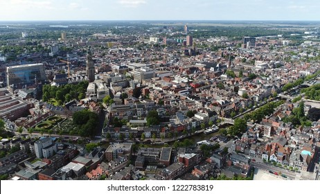 Aerial bird view picture of Groningen city center the main municipality as well as the capital the eponymous province in the Netherlands it is the largest town in the north of Holland